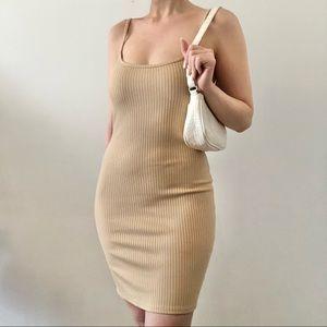 UO Ribbed Nude Dress